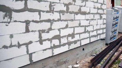 Фундамент под стены из пеноблоков,,какой фундамент под пеноблоки,фунамент под гараж из пеноблоков